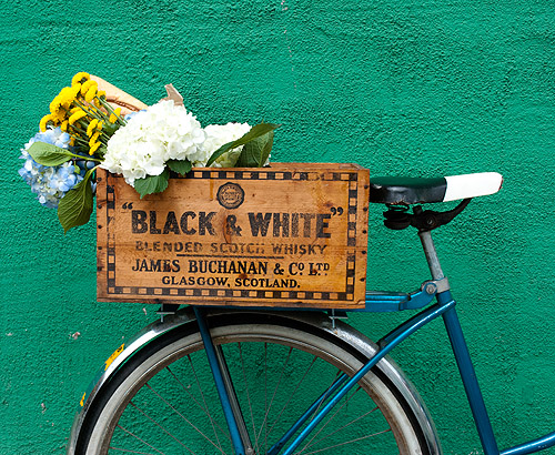 caja madera bici navidad