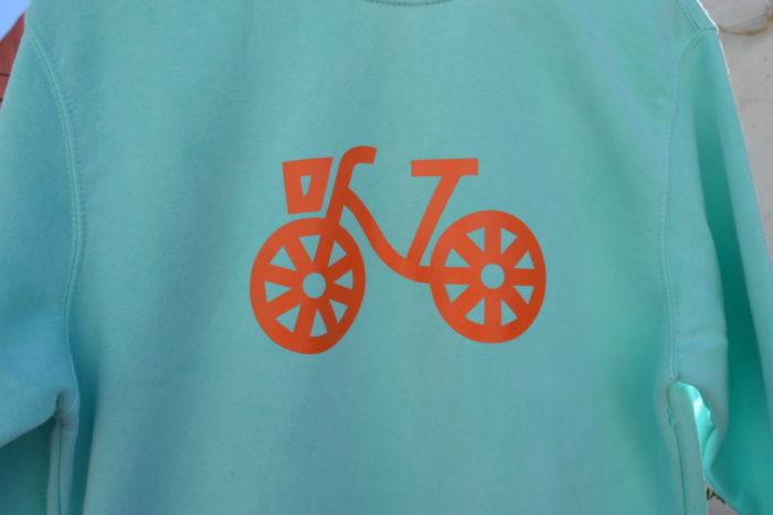 sudadera mint bicicleta - Las Bicis Naranjas