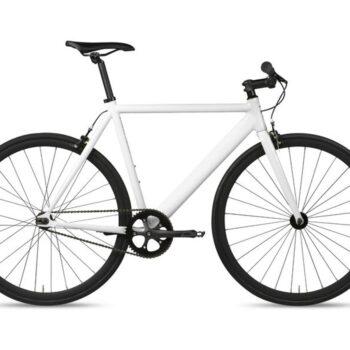 6ku track fixie single speed bike blanca