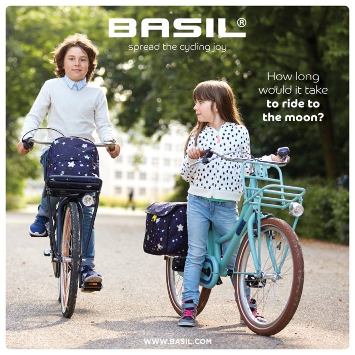 Basil stardust double bicycle bag for kids