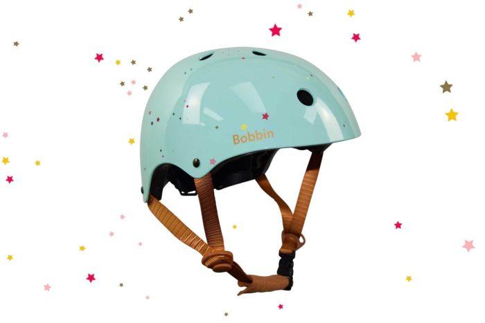 bobbin casco verde estrellitas